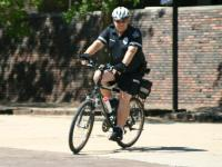 University Police Officer on bicycle